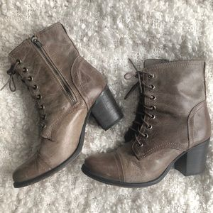 Steve Madden | Leather Lace Up Booties